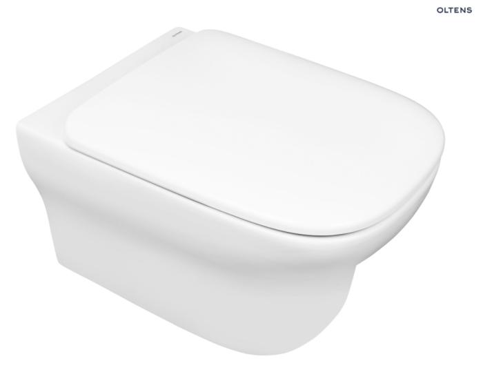Oltens Gulfoss Miska WC wisząca PureRim z deską wolnoopadającą Slim biała 42009000