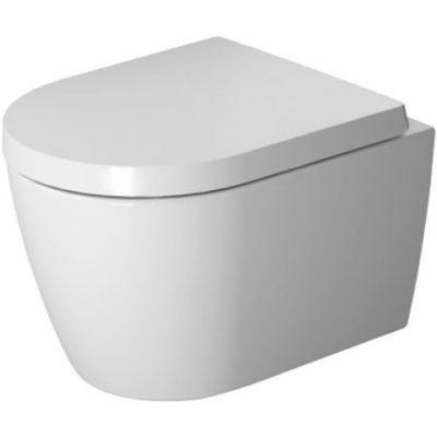 Duravit Me by Philippe Starck muszla podwieszana 48 cm  Rimless compacto  z deską wolnoopadającą 45300900A1