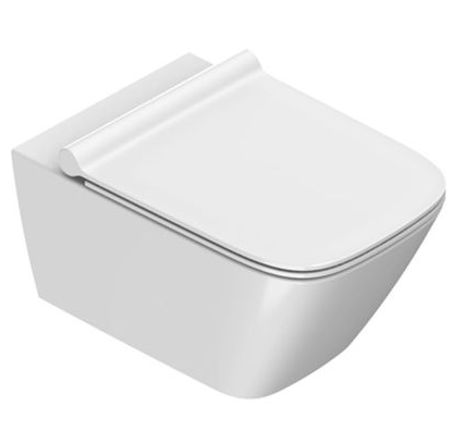 Catalano Green Miska WC bezrantowa z deską slim i mocowaniem 1VS55RGR00+5GR55STP00+5KTST00
