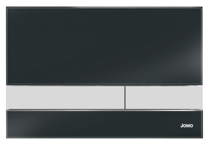 Werit / Jomo Exclusive 2.2 przycisk spłukujący szklany ramka i przyciski chrom mat - czarny 167-40009005-00