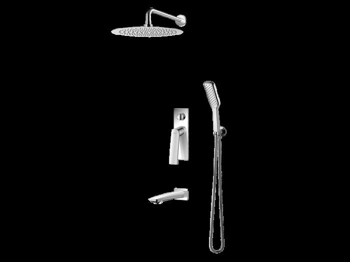 Vedo Desso I system podtynkowy do wanny - deszczownia 30 cm VBD4231/30/CH