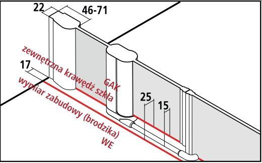 Kermi Pega drzwi wahadłowe 1-skrzydłowe z polami stałymi PE1AR15020VPK zabudowa