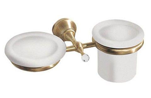 Giulini Giovanni Ibisco Crystal Mydelniczka + kubek wiszący Swarovski ceramika złoto RG1143ZŁ