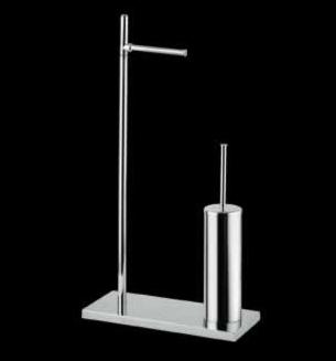 Bagno&Associati Stojak na papier toaletowy ze szczotką chrom TE633