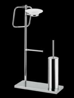Bagno&Associati Stojak na ręcznik papier szczotka WC chrom TE635