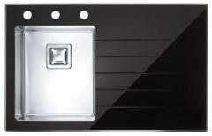 Alveus Crystalix 10 POP-UP czarna 860x540 mm - lewy
