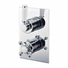 Omnires Retro Bateria Termostatyczna prysznicowo-wannowa podtynkowa, chrom