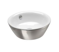 Catalano Gold&Silver Umywalka okrągła 42 cm biało-srebrna