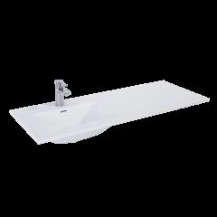 Elita Umywalka meblowa Skappa 120x46 cm biały połysk lewa (60+60)