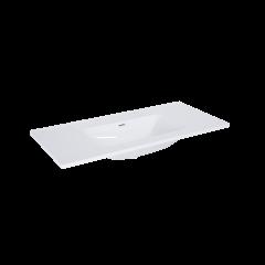 Elita Umywalka meblowa Skappa 100x46 cm biały połysk bez otworu