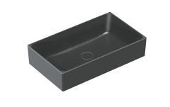 Catalano New Zero Colori Umywalka nablatowa prostokątna 60x35 cm czarna satyna