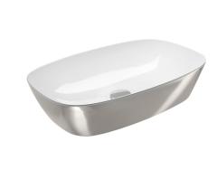 Catalano Gold&Silver Umywalka nablatowa 60x40 cm biało-srebrna