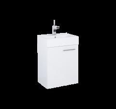 Elita Tiny Set umywalka + szafka 45 cm 1D biały polysk, chrom