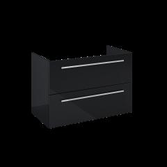 Elita Kwadro Plus Komoda 80 cm 2S czarny połysk