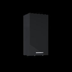 Elita Kwadro Plus Szafka wisząca 40x31.6 cm 1D czarny połysk
