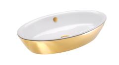 Catalano Gold&Silver Umywalka nablatowa owalna 70x42 cm biało-złota