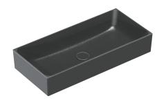 Catalano New Zero Colori Umywalka nablatowa 75x35 cm czarna satyna