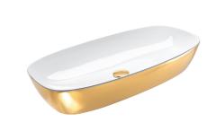Catalano Gold&Silver Umywalka nablatowa 80x40 cm złoto-biała