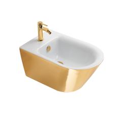 Catalano Gold&Silver Bidet wiszący biało-złoty