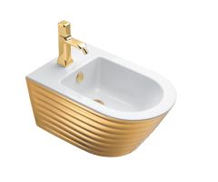 Catalano Gold&Silver Bidet podwieszany 55x35 cm biało-złoty