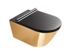 Catalano Gold&Silver Miska WC wisząca bezrantowa 55x35 cm czarno złota