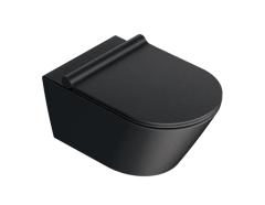 Catalano New Zero Colori Miska wisząca Wc 55x35 cm czarna satyna