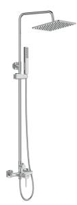 Laveo Muro zestaw prysznicowy ścienny z deszczownicą grafit PLU10OB