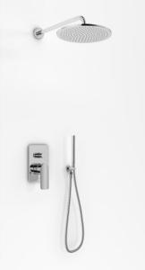 Kohlman Texen Zestaw Prysznicowy 20cm chrom