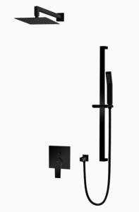 Vedo Zestaw natryskowy podtynkowy IV SETTE NERO średnica 30 cm