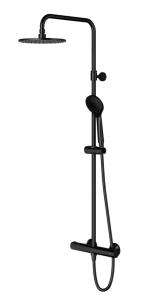 Omnires Kolumna prysznicowa termostatyczna natynkowa Y czarna