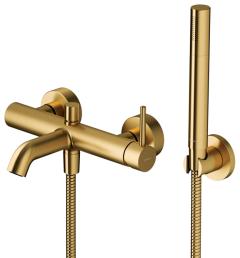 OMNIRES Bateria wannowa z zestawem prysznicowym Y złoty szczotkowany