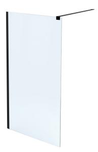 MASSI Ścianka prysznicowa WALK IN FIX Black 70 cm