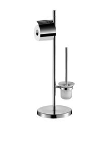 Stella Stojak papier toaletowy i szczotkę WC, szklany pojemnik