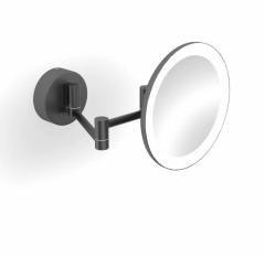 Stella Lusterko kosmetyczne powiększające 3x, podświetlenie LED czarny mat