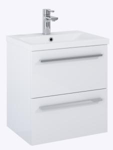 Elita Kwadro Plus Zestaw umywalka z szafką 50 cm 2S biały połysk