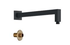 EXCELLENT Ramię Prysznicowe ścienne Kwadratowe 400mm czarny mat