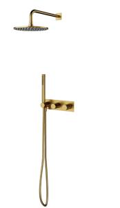 Omnires CONTOUR System prysznicowy podtynkowy  złoto szczotkowane
