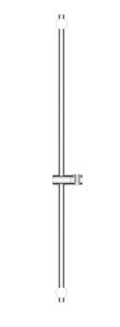 Oltens Alling Drążek prysznicowy 90 cm chrom
