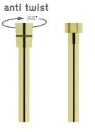 Vedo Metalic Anti Twist Wąż natryskowy metalizowany 125cm