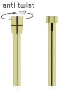 Vedo Metalic Anti Twist Wąż natryskowy metalizowany 150cm