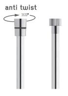Vedo Metalic Anti Twist Wąż natryskowy metalizowany 125cm chrom