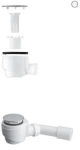 Vedo  FLAT 50A Syfon brodzikowy biały mat