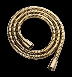 Omnires Wąż prysznicowy osłona stalowa 150 cm złoty