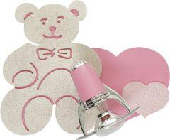Nowodvorski Lighting HONEY Lampa kinkiet pink/ecru I miś
