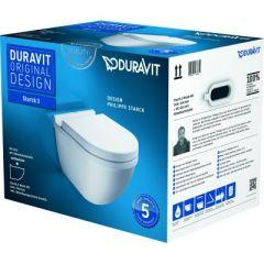 Duravit Starck 3 miska WC wisząca z deską wolnoopadającą białą