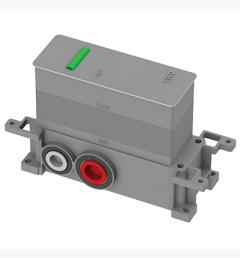 Omnires Element podtynkowy termostatycznej baterii 3-wyjściowej