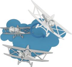 Nowodvorski Lighting PLANE Lampa kinkiet blue/gray III samolot