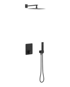 Excellent Krotos Zestaw prysznicowo-wannowy termostatyczny czarny mat