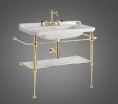 Kerasan Waldorf Stelaż umywalkowy 100 cm złoty