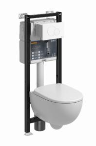 Koło Technic GT Zestaw Stelaż podtynkowy z miską WC krótka Rimfree z przyciskiem kolor biały